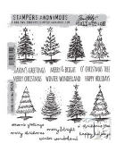 Stampers Anonymous/Tim Holtz - Cling Mount Stamp Set - Scribbly Christmas - CMS249